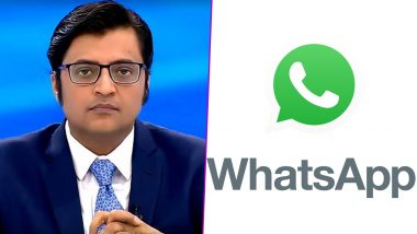 WhatsApp Chats of Arnab Goswami and BARC Ex-CEO Partho Dasgupta Leaked, Maharashtra HM Anil Deshmukh Says Gathering Information About 'Leaked Chats'