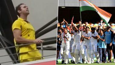 Video of Australian Fan Shouting 'Bharat Mata Ki Jai' and 'Vande Mataram' Slogans Goes Viral After India Beat Hosts at the Gabba To Win Series