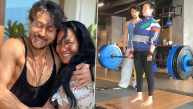Tiger Shroff's Mother Ayesha is a Superwoman! From Lifting 95 Kgs Weights to Super Dive, Watch Amazing Video Feats of This 60-YO!