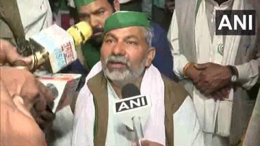 Farmers' Protest: BKU Leader Rakesh Tikait Breaks Down at Delhi-UP Ghazipur Protest Site, Refuses To Surrender