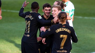How to Watch Real Betis vs Barcelona, La Liga 2020-21 Live Streaming Online in India? Get Free Live Telecast of RB vs BAR Football Game Score Updates on TV