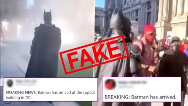 Fact Check: Batman Arrives at US Capitol Hill During Unrest? Know Truth About The Viral Video From BLM Protests