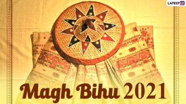 Magh Bihu 2021 Greetings and HD Images: WhatsApp Stickers, Telegram Messages, GIFs, Facebook Photos and SMS to Send Wishes of Bhogali Bihu