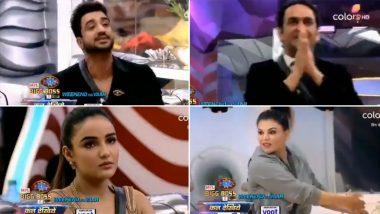 Bigg Boss 14 Preview: Aly Goni Exposes Vikas Gupta; Jasmin Bhasin Makes Fun of Rakhi Sawant's Facial Surgery (Watch Video)