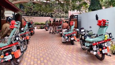 Rakshita: CRPF Gets 21 DRDO-Developed Bike Ambulances for Remote Area Operations