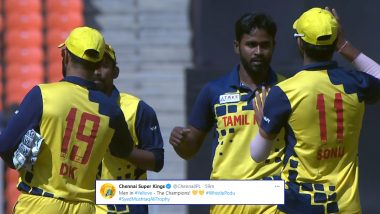 Chennai Super Kings React to Tamil Nadu's Syed Mushtaq Ali Trophy 2021 Title Win, CSK Congratulates Dinesh Karthik-Led Side for Clinching Title
