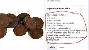 Sh*t Happens! Man Eats Cowdung Cake From Amazon And Reviews It 'Very Bad' as He Got Loose Motions, Bizarre Review Goes Viral