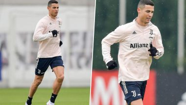 Cristiano Ronaldo Shares Pictures From Training Session Ahead of Juventus vs Bologna Clash in Serie A 2020–21, Says 'Preparing for the Next Challenge'