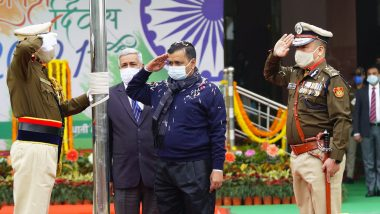 Republic Day 2021: CM Arvind Kejriwal Unfurls Tricolour at Delhi Secretariat Ahead of 72nd R-Day