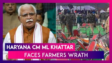 Haryana CM Manohar Lal Khattar Faces Farmers Wrath; Amid Protests In Karnal, CM's Chopper Unable To Land