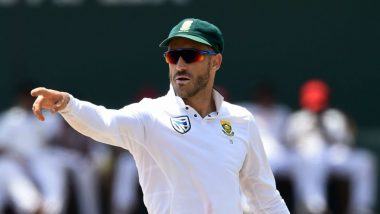 Faf du Plessis Announces Retirement from Test Cricket, Says 'Time Is Right to Walk into a New Chapter' (View Post)