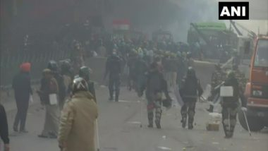 High Alert in Haryana After Farmers' Tractor Parade Turns Violent at Some Places in Delhi