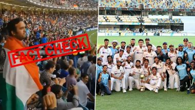 'Crowd Singing Vande Mataram After Team India's Historic Win Against Australia in Gabba' Video is Old; Here's The Truth Behind The Viral Video