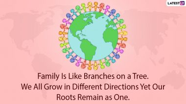Happy Global Family Day 2021 Messages, HD Images and Greetings: Share WhatsApp Stickers, GIFs, Facebook Wishes & Meaningful Quotes With Your Family on the First Day of New Year