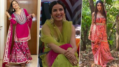 Lohri 2021 Style-Guide for Newlyweds: Sargun Mehta, Hina Khan, Jasmin Bhasin & More, Let These Fashionistas Help You Deck Up for First Lohri After Marriage in Panache!