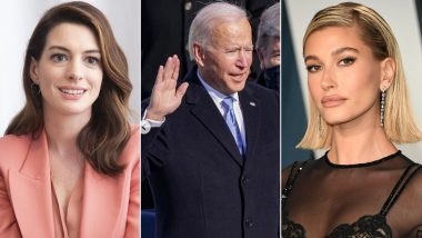 Joe Biden Inauguration: From Anne Hathaway to Hailey Bieber, Wishes Pour in from Hollywood Celebrities For the 46th US President
