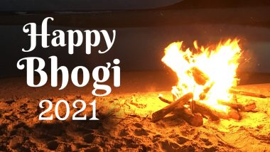 Happy Bhogi 2021 Wishes and Messages: WhatsApp Stickers, Bhogi Pandigai HD Images, Facebook Posts, GIFs, and Telegram Greetings to Share on the First Day of Pongal