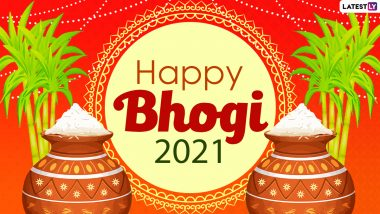 Happy Bhogi 2021 Greetings & HD Images: WhatsApp Stickers, Messages, GIFs, SMS, Quotes and Status To Wish on First Day of the Four-Day Makar Sankranti Festival