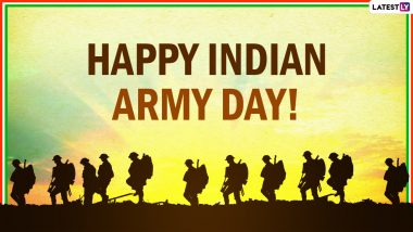 Army Day 2021 Wishes and HD Images: WhatsApp Stickers, HD Images, Facebook Messages and GIFs to Honour the Jawans of Indian Army