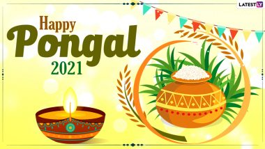 Happy Pongal 2021 Wishes And Wallpapers: WhatsApp Stickers, Facebook Greetings, Instagram Stories, Messages And SMS to Send on the Celebratory Observance