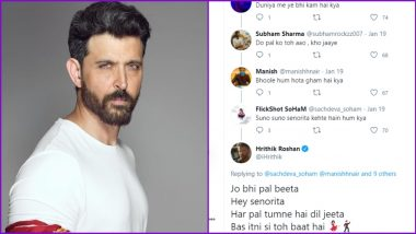 Hrithik Roshan Joins Twitter Thread to Sing 'Senorita' Song From Zindagi Na Milegi Dobara, Netizens Left Amused