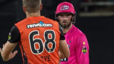 James Vince Denied Century by Andrew Tye 'Wide Ball' in Sydney Sixers vs Perth Scorchers BBL 2020–21 Qualifier; Netizens Lash Out at Australian for 'Unsporting Behaviour'