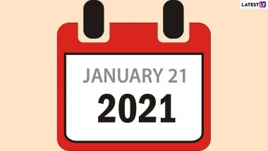 January 21, 2021 is a Unique Day! It's The 21st Day of The 21st Year of 21st Century Today, Know More