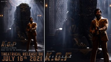 KGF Chapter 2: Makers of Yash Starrer Action Film Announce Its Release Date With a Brand New Poster (View Pic)