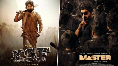 KGF Chapter 2 Meets Master: The Teaser of Yash, Sanjay Dutt Starrer to Be Played in Theatres Screening Thalapathy Vijay's Film