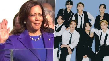 'Kamala Harris is Part of BTS Army,' Say K-Pop Fans After US Vice-President Rocks Purple Outfit and Follows BTS on Twitter on Inauguration Day (Check Tweets)
