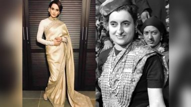 Kangana Ranaut to Essay the Role of Former Prime Minister Indira Gandhi Next, Says It Is Not a Biopic