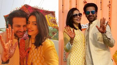Pavitra Rishta Actor Karan Veer Mehra and Nidhi Seth's Pre-Wedding Festivities Begin, Pictures From Their Mehendi Ceremony Go Viral!
