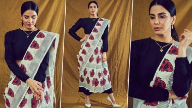Kirti Kulhari's Slick Cropped Saree Look Is a Must Try Trend for the Season!