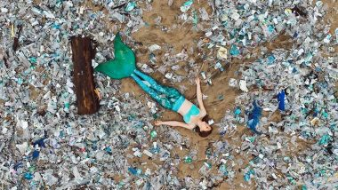 'Mermaid' Spotted Lounging in Trash on Bali Beach! Instagram User Highlights the Sad Reality of Marine Pollution Through Pics and Videos