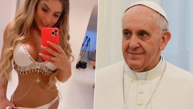 Racy Request! XXX Website OnlyFans Model Lunna LeBlanc Wants Pope to 'Bless' Her Sexy Playboy Magazine Cover, Faces Backlash