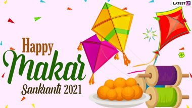 Makar Sankranti Images & HD Wallpapers for Free Download Online: Wish Happy Uttarayan 2021 With GIF Greetings, WhatsApp Stickers and Photo Messages