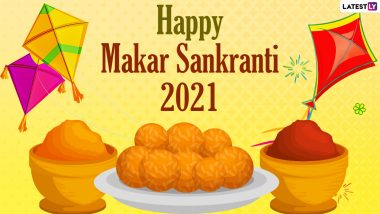 Makar Sankranti 2021 Wishes & Uttarayan HD Images: WhatsApp Stickers, GIF Greetings, Facebook Messages & SMS To Celebrate Festival Dedicated to Sun God
