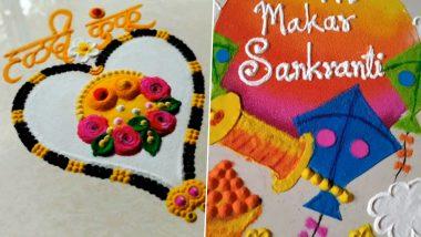 Makar Sankranti 2021 Easy Rangoli Designs And HD Kite Kolam Images: Beautiful Patterns & Easy Tutorials to Make Your Festivity Even Brighter (Watch Videos)