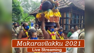 Makaravilakku 2021 Live Streaming Online From Sabarimala Temple in Kerala: Know When and How to Watch Makara JyothiLive Telecast From Lord Aiyappa Temple