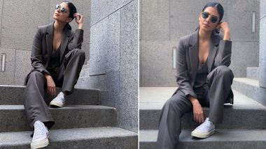 Malavika Mohanan's Pantsuit Moment With Sneakers Is a Helluva Chic!
