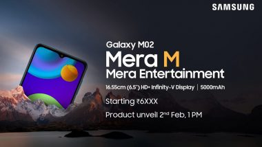Samsung Galaxy M02 to Be Launched on February 2, 2021; Listed on Amazon India