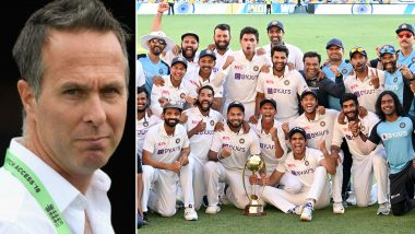 Michael Vaughan Brutally Roasted With Funny Memes for Wrong Prediction After India Register Historic Test Series Victory Over Australia
