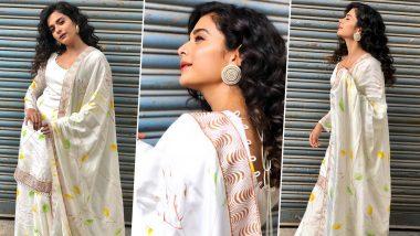 A Look at Mithila Palkar's Effortless Charm Wearing a Hand Painted Floral Kurta Vedika M Set!