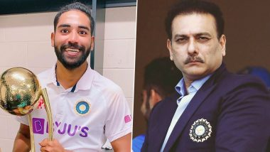 Indian Cricket Team Head Coach Ravi Shastri Praises Mohammed Siraj, Says 'He Is Find of Australia Tour'