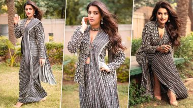 Yo or Hell No? Nidhhi Agerwal in SVA Couture for Bhoomi and Eeswaran Promotions