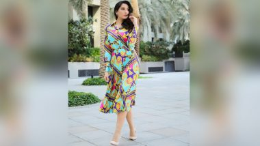 Nora Fatehi Makes a Strong Case for Printed Outfits, Stuns In Her Vibrant Midi Dress