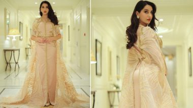 Nora Fatehi in a Floor-Sweeping Kaftan Dress Is Here To Rule the Style Charts (View Pics)