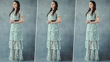 Nora Fatehi Is Elegantly Eloquent in a Tiered Lace Dress by Self Portrait!