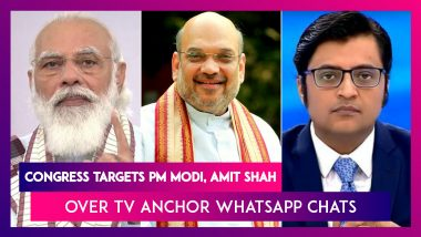 Congress Senior Leaders Target PM Narendra Modi, HM Amit Shah Over TV Anchor Arnab Goswami's WhatsApp Chats