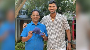 Washington Sundar Flaunts His 'Priceless Possessions', Shares Picture of his Father Holding Cricketer's Test Cap